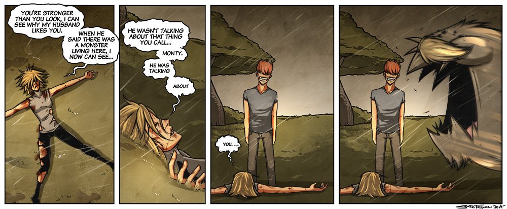 that last panel of Monty is actually me when I see my cat ignoring me.